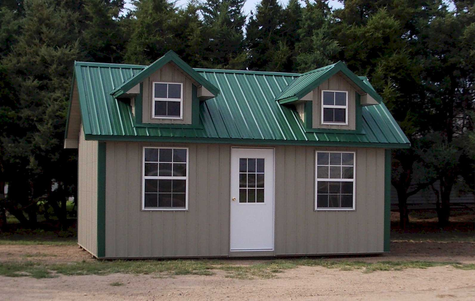 Steel-sided cabins for sale in Wichita Kansas