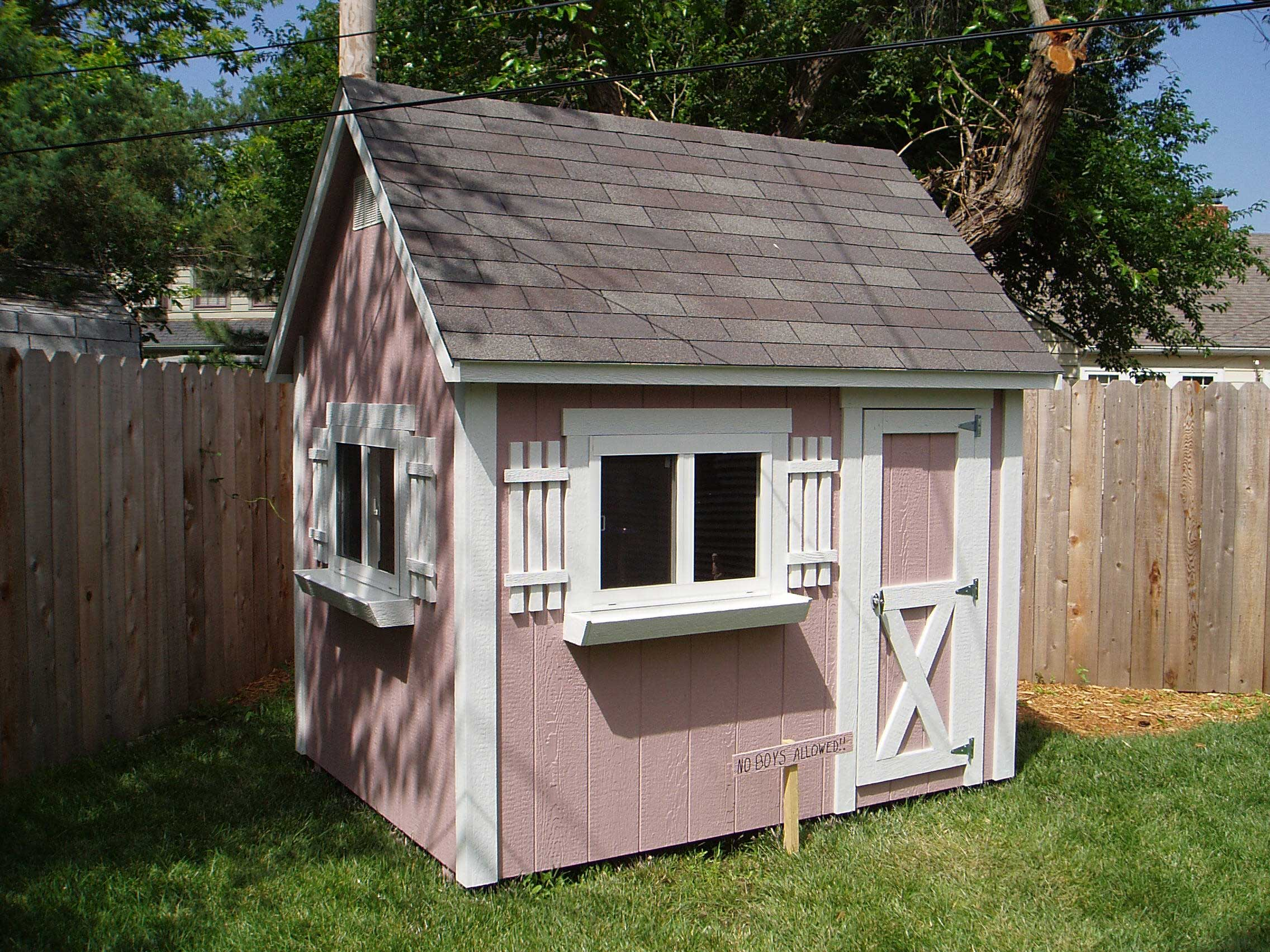 Sturdi bilt duchess playhouse for Wooden playhouse with garage