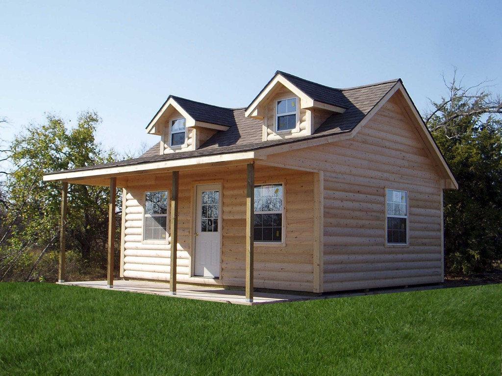Sturdi bilt cabins for sale central kansas cabin builders for Sheds with porches for sale
