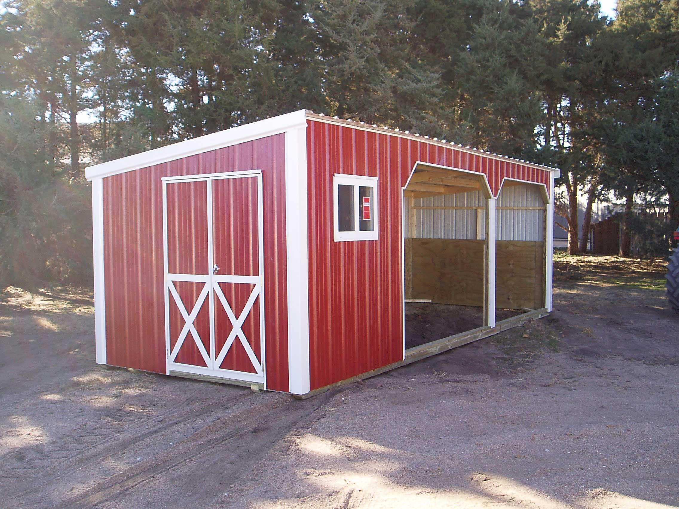 Metal Goat Shelters : Sturdi bilt wood framed livestock shelter