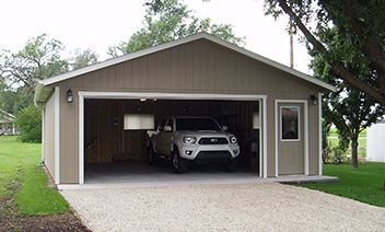 Panel Sided Garage Installed in Kansas