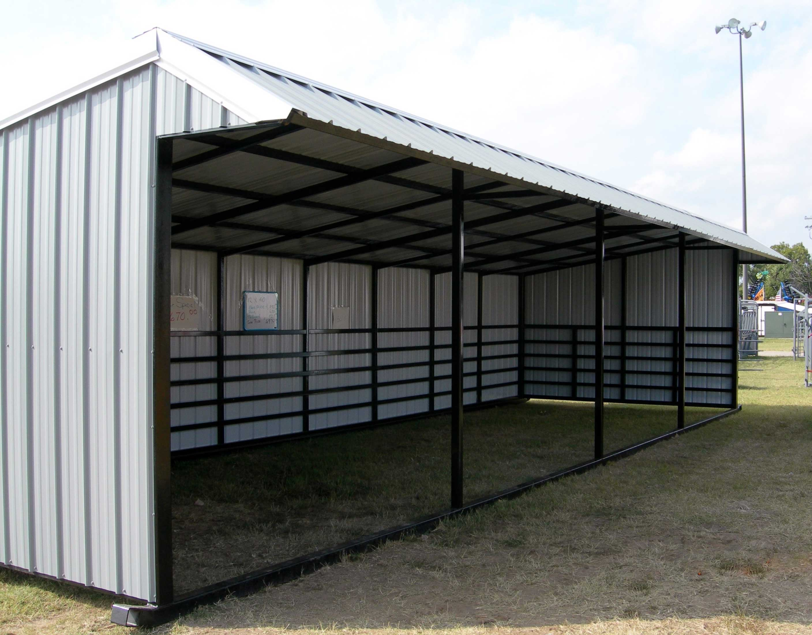 Small Metal Shelters : Sturdi bilt steel framed livestock shelter