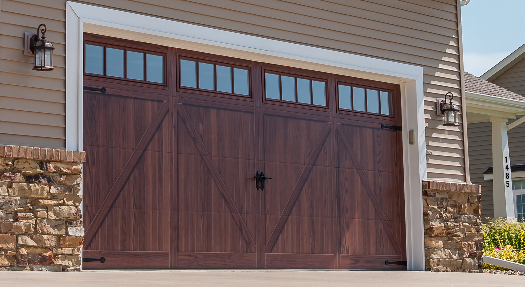 Sturdi bilt flush overlay for Flush panel wood garage door